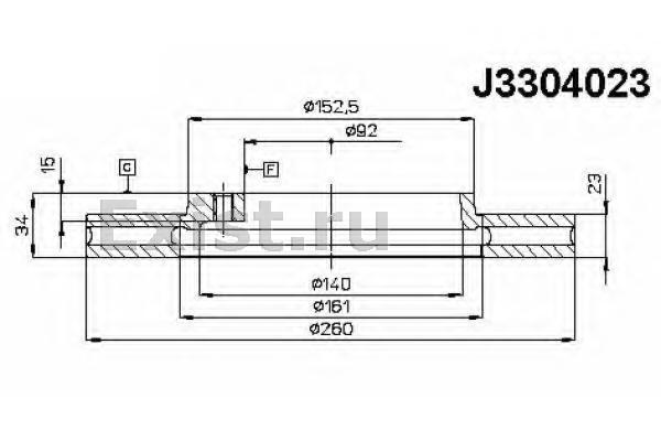 диаметр ступицы: 92 мм